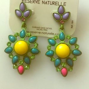 Multi color studs earrings